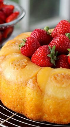 Pineapple and Strawberry Bundt Cake