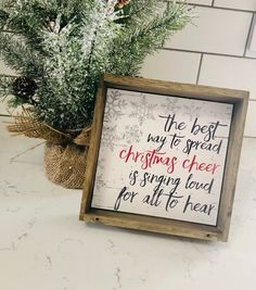 The best way to spread Christmas cheer is singing loud for all to hear sign - The best way to spread Christmas cheer is singing loud for all to hear! Sweet little sign for any t - Christmas Booth, Christmas Signs Wood, Holiday Signs, Black Christmas, Etsy Christmas, All Things Christmas, Winter Christmas, Christmas Holidays, Christmas Crafts