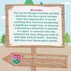 "IGGLE FITNESS CHALLENGE – DAY 7 ""FITNESS SPIRIT ANIMALS"" | International Geek Girl Pen Pals Club #IGGPPC #IGGPPCamp"