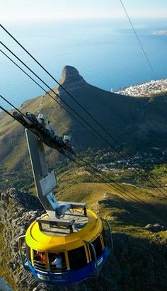 Cable car up to Table Mountain, Cape Town, South Africa Places To Travel, Places To See, Table Mountain Cape Town, Le Cap, Cape Town South Africa, Belle Villa, Out Of Africa, Most Beautiful Cities, Africa Travel
