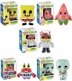 Spongebob Squarepants Pop Television Vinyl Figure Set Of 5 Funk Pop, Funko Pop Figures, Vinyl Figures, Pop Marvel, Pop Bobble Heads, Figurine Disney, Funko Pop Dolls, Disney Pop, Pop Toys