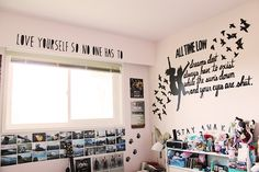 All Time Low themed room Small Room Bedroom, Girls Bedroom, Bedroom Decor, Bedroom Ideas, Small Rooms, Bed Rooms, Bedroom Inspo, Wall Decor, All Time Low