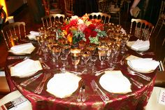 An exquisite table at last night's 1812 Gala at Russian Embassy..the colors are warm and autumnal
