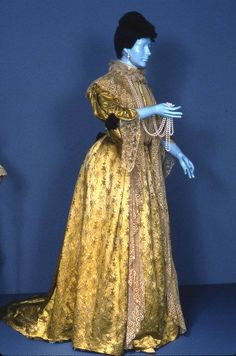 Dress, 1885-1905. From Exhibition: The Opulent Era: Fashions by Worth, Pingat, and Doucet at The Brooklyn Museum