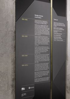 Beautiful signage by Hofstede in Australia's Bendigo Library.Click image for full story & visit the Slow Ottawa 'Wayfinding' board for other elegant solutions.