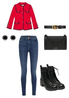 """""""Untitled #58"""" by denisa-gabriela on Polyvore featuring Madden Girl, J Brand, Chanel, Thomas Sabo and Gucci"""
