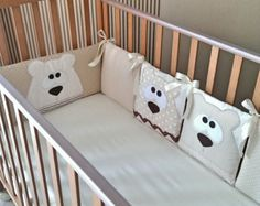 Baby Boy Bedding set Clouds Baby Bedding by PocketsKidsKingdom