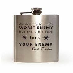Frank Sinatra quote laser engraved flask