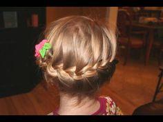 horizontal french braid for short hair