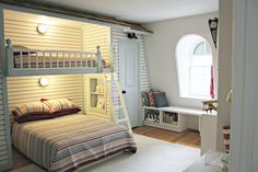 Built-in closets and bunk.