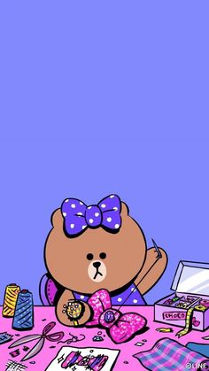 Lines Wallpaper, Purple Wallpaper, Aesthetic Iphone Wallpaper, Rilakkuma Wallpaper, Kawaii Wallpaper, Bear Halloween, Cute Love Pictures, Friends Wallpaper, Wall Paper Phone