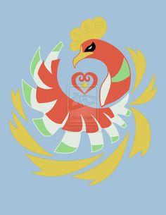 Heart Gold Ho-Oh by kinokashi.deviantart.com on @deviantART