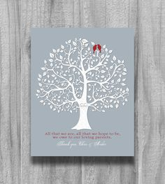 Bride Groom Gift for Parents Personalized by PrintsbyChristine, $13.00