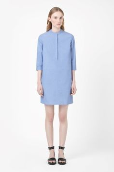 collarless shirt dress | Cos