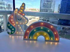 Figuras Luminosas En Polifan: Unicornio, Arcoiris - $ 600,00