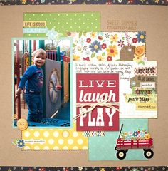 Good way to use up those 4x6 and other embellishments.