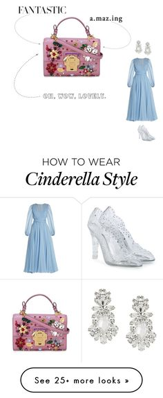 """Cinderella"" by ericaprincessofstars on Polyvore featuring H&M, Dolce&Gabbana, dolceandgabbana, disney, cinderella and couture"