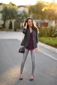 f34984d1e5 Top Three Grey Jeans Outfits | Clothing | Grey jeans outfit, Grey ...