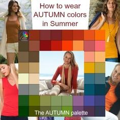 How to wear Autumn colors in Summer? Softly sensuous shades to suit your coloring are always available? How to wear Autumn colors in Summer? Softly sensuous shades to suit your coloring are always available? Warm Spring, Soft Summer, Autumn Summer, Soft Autumn Color Palette, Autumn Colours, Warm Fall Outfits, Estilo Hippy, Dark Autumn, Soft Autumn Deep
