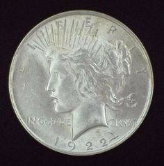 1922 Peace Dollar - Silver Coin - Brilliant Uncirculated Coinage - Liberty & Eagle - Collection, Jewelry, Display, Bullion, Pendant, Antique by EarthlyCrystals33 on Etsy