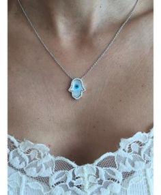 colar mao de fatima prata semi joias