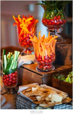 Veggie Buffet Idea // aren't these pretty? #appetizer #cleaneating