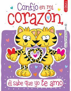 Te amo con el corazón-gatos enamorados © ZEA www.tarjetaszea.com