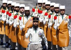 French Foreign Legion pionneers and their mandatory beards
