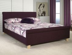 Limelight Eclipse King Size Plum Fabric Bed Frame