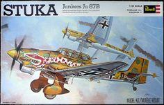 Revell Junkers Stuka 'The Snake', plastic model kit Plastic Model Kits, Plastic Models, Luftwaffe, Revell Model Kits, Monogram Models, Airplane Art, Vintage Models, Vintage Box, Fighter Aircraft