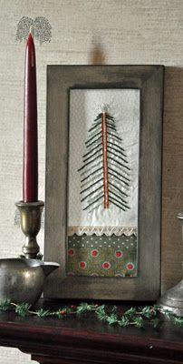 Embroidered tree - primitive