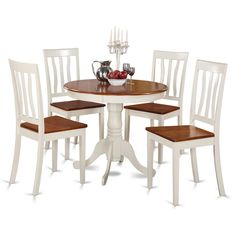 Dazzling Antique Table Set Contributes Refinement To Any Kitchen Or  Breakfast Nook. Two Tone Dining