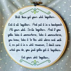 Rick & Morty Get your sh-t together cross stitch by terminal
