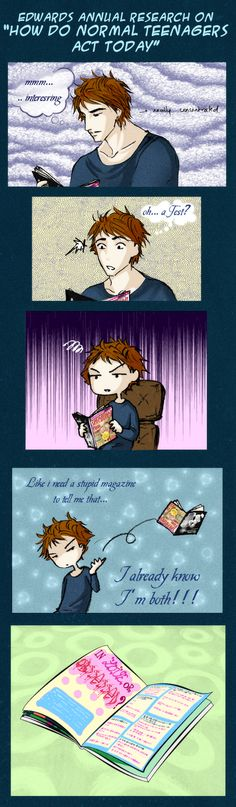 """Ed's annual research by palnk.deviantart.com on @deviantART """"In love or obsessed?"""" Lmao"""