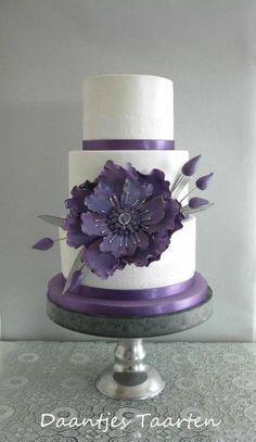 Big flower - Cake by Daantje