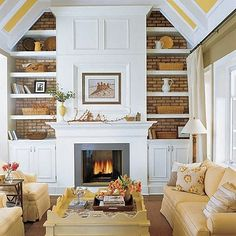 Built-in bookshelves provide great space for decor and storage!