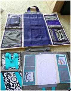 Bricolage Boîte à couches pour bébés Changing Station Sew Pattern Picture Instructions