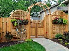Pergola Above Garage Door Garden Entrance, Garden Gazebo, Entrance Gates, Garden Trellis, Entrance Ideas, Tor Design, Fence Design, Building A Pergola, Diy Pergola