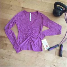 Lululemon Interval Long Sleeve New with tags! Size 6. Color is feathered ultra violet💜Online right now for $88. Price is firm💜 lululemon athletica Tops Tees - Long Sleeve