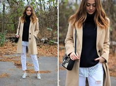 Get this look: http://lb.nu/look/7923184  More looks by Timea C: http://lb.nu/timbo  Items in this look:  H&M Sweater, F&F Coat