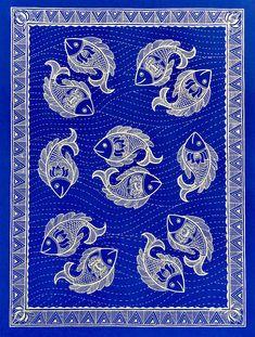 Rejoice 15 by Pratibha Madan. Paintings for Sale. Pichwai Paintings, Amazing Paintings, Indian Paintings, Abstract Paintings, Madhubani Paintings Peacock, Madhubani Art, Gond Painting, Mural Painting, Painting Tips