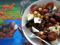 Ensalada de garbanzos, tomate y anchoas #desafiocrece #receta