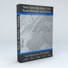 New York City 5 Boroughs Jersey Newark Road Network and Streets | 3D Model