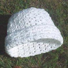 Addison Hat -- A free crochet pattern, v-stitch and shell stitch, adult woman size