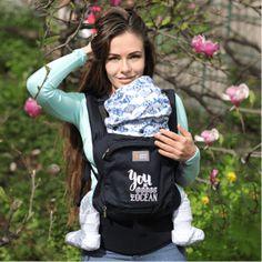 porte-bébé préformé, love and carry, portage, poissons bleu, thème océan