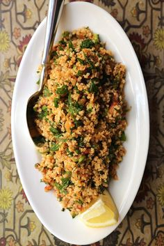 This fast and easy recipe for quinoa tabbouleh can be thrown together the night before and packed quickly for a perfect lunch. If you've got the time, top off with some grilled chicken.