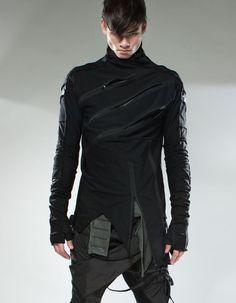 post apocalyptic fashion / men's fashion / alternative fashion / cyberpunk / all black / dark future / urban dystopia