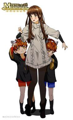 mystic messenger, luciel choi, and saeran choi 이미지