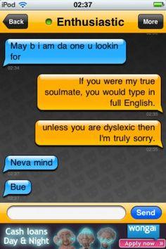 Grindr (Gay romance app) Funny conversation caps.