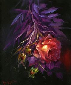 by Gary Jenkins. I like this because it looks like the heart and lungs said original pinner Art Floral, One Stroke Painting, Painting Tips, Decoupage, Gary Jenkins, Art Themes, Botanical Art, Watercolor Flowers, Flower Art